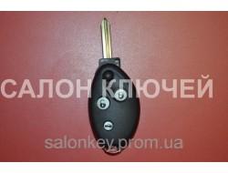 Citroen ключ выкидной корпус 3 кнопки овальный вид