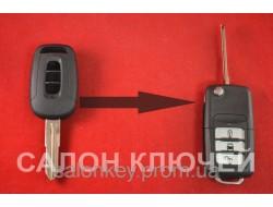 Ключ Chevrolet captiva выкидной 3 кнопки Вид №3 акрил