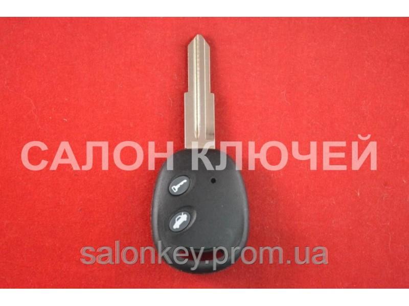Chevrolet aveo ключ 2 кнопки корпус ключа