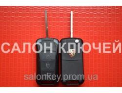 Ключ Porsche выкидной корпус 3 кнопки