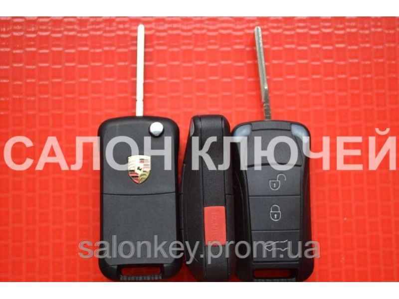 Ключ Porsche выкидной корпус 3+1 кнопки