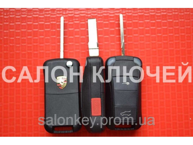 Ключ Porsche выкидной корпус 2+1 кнопки