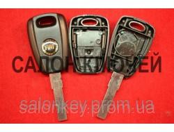 Ключ Fiat doblo, punto, корпус 1 кнопка  лезвие SIP22 Чёрный