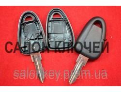 Ключ Fiat doblo, ducato, scudo, punto, fiorino, Iveco с местом под чип лезвие FI15 Вид №2