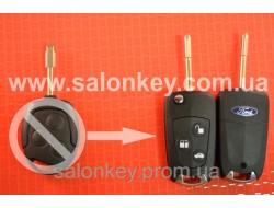 Ключ выкидной Ford 3 кнопки, для переделки из не выкидного ключа Лезвие FO21 Вид №4