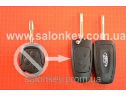 Ключ выкидной Ford 3 кнопки, для переделки из не выкидного ключа Лезвие FO21 Вид №5