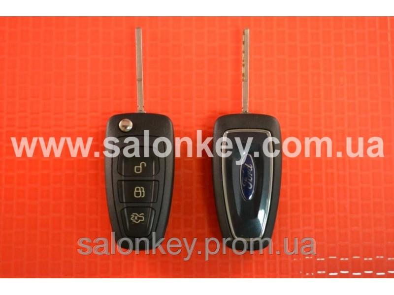Выкидной ключ Ford 3 кнопки лезвие HU101 Вид NEW