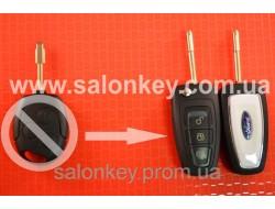 Выкидной ключ Ford с чипом и радиоканалом нового образца лезвие FO21 для переделки
