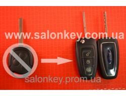 Выкидной ключ Ford с чипом и радиоканалом нового образца лезвие HU101 для переделки