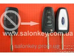 Выкидной ключ Ford с чипом и радиоканалом нового вида лезвие FO21. Вместо 3 кнопочного старого вида.