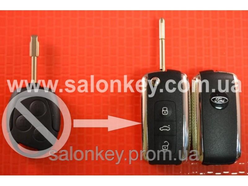 Выкидной ключ Ford 4D 434MHZ лезвие FO21 Вместо 3 кнопочного не выкидного Вид №1