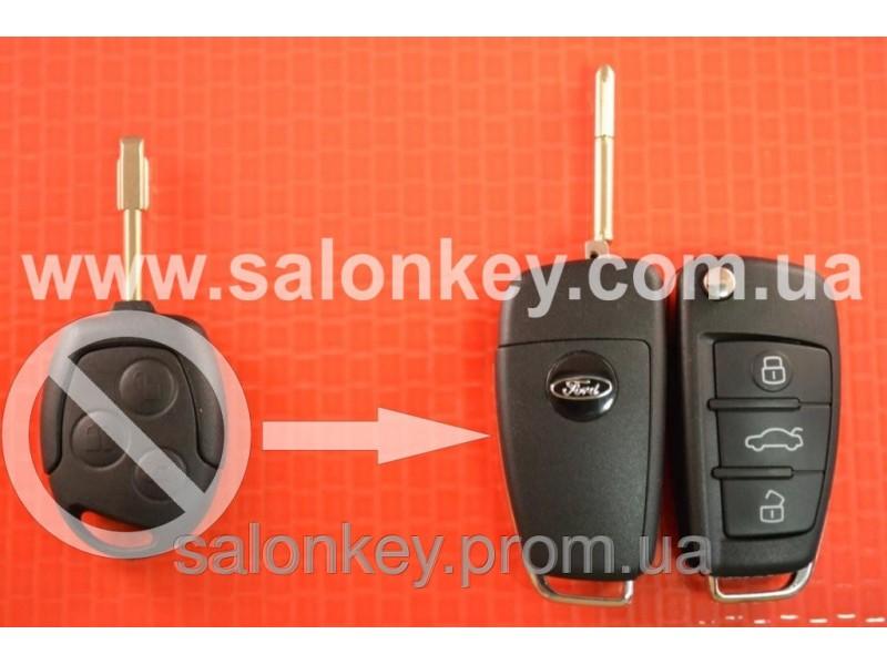 Выкидной ключ Ford 4D 434MHZ лезвие FO21 Вместо 3 кнопочного не выкидного Вид №2