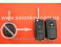 Выкидной ключ Ford 4D 434MHZ лезвие FO21 Вместо 3 кнопочного не выкидного Вид №3