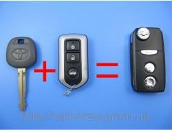 Ключ Toyota выкидной корпус 3 кнопки Stels black