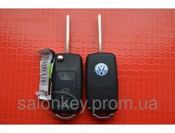 Ключ Volkswagen выкидной 3 кнопки 434Mhz id48. 7M3 959 753