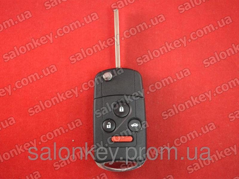 Выкидной ключ 3+1 кнопки на Acura 313.8Mhz