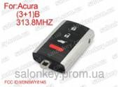 Acura смарт ключ 313.8mhz FCCID:M3N5WY8145 3+1 кнопки