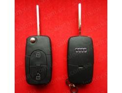 Выкидной ключ Audi 2 кнопки под батарейки 1620