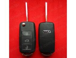 Audi A8 выкидной ключ 3 кнопки ( корпус )
