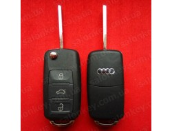 Ключ AUDI A8 выкидной 3 кнопки 433Mhz id46 PCF7946