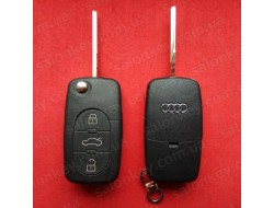 Ключ AUDI выкидной 3 кнопки 433Mhz id48 4D0837231A