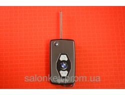 Выкидной ключ Bmw 3, 5, 7, x5 для переделки из ключа ромбик, лезвие HU92 вид металл