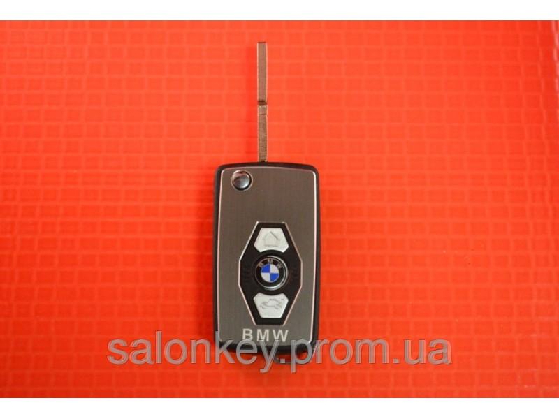 Выкидной ключ BMW для переделки из ключа ромбик, лезвие HU58 вид металл