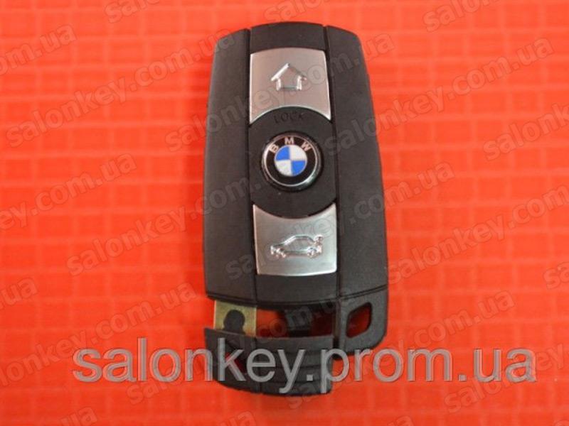 Смарт ключ BMW 3 кнопки с 2010г.  корпус ключа BMW