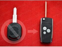 Выкидной ключ Chevrolet Lacetti для переделки 3 кнопки среднего качества