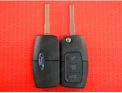 Ключ Ford выкидной 3 кнопки 433MHz чип 4D лезвие HU101