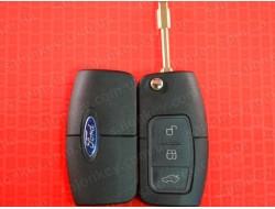 Ключ Ford выкидной 3 кнопки 433MHz чип 4D лезвие FO21
