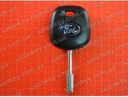 Ключ Ford c местом под чип Лезвие FO21 Лого наклейка