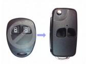 Выкидной ключ Geely MK 2 кнопки Для переделки из брелка и ключа