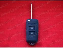 Hyundai выкидной ключ 2 кнопки для переделки с местом под батарейку Вид №2 Black