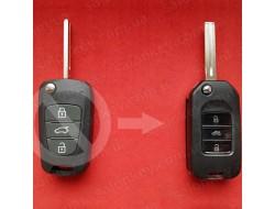 Корпус выкидного ключа Киа для переделки 3 кнопки