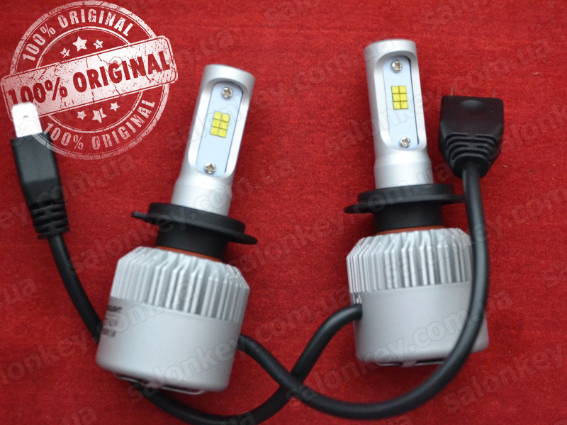 LED HeadLight S2 H7 автомобильные лед лампы 36W 16000Lumen