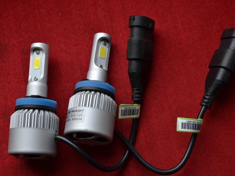 LED HeadLight S2 H8 автомобильные лед лампы 36W 16000Lumen