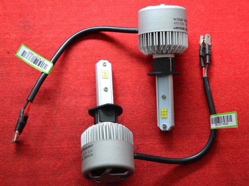 LED HeadLight S2 H1 автомобильные лед лампы 36W 16000Lumen