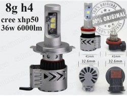 G8 H4 LED HeadLight 6500K/12000LM