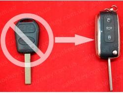 Ключ выкидной хром LAND ROVER для переделки из обычного не выкидного