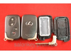 Lexus is250, is300, is350, ls430, ls460, es350, gs450 ключ корпус смарт 4 кнопки