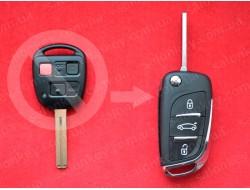 Выкидной ключ Lexus LX470 GX470 3 кнопки 314,4Mhz HYQ1512V 4D ID68