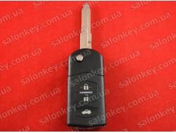 Mazda выкидной ключ на 3 кнопки корпус