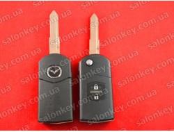 Mazda выкидной ключ на 2 кнопки корпус
