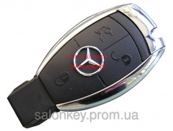 Mercedes Vito, Sprinter W211, Корпус ключа 3 кн хром. С местом под батарейки