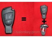 Mercedes Vito Sprinter W211 W210 и другие Корпус ключа 3 кнопки Малая рыбка + вставка под батарейки