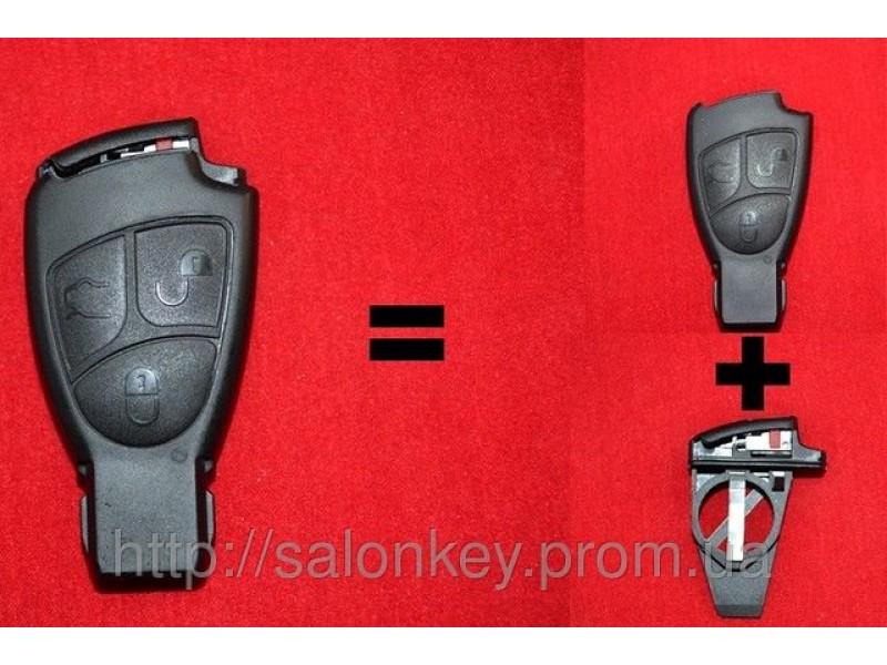 Mercedes Vito, Sprinter W211, Корпус ключа 3 кн. Малая рыбка + вставка под батарейки