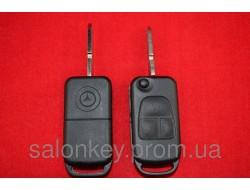 Mercedes ML, W140 ключ выкидной 3кн корпус. Лезвие HU64 со стеклом
