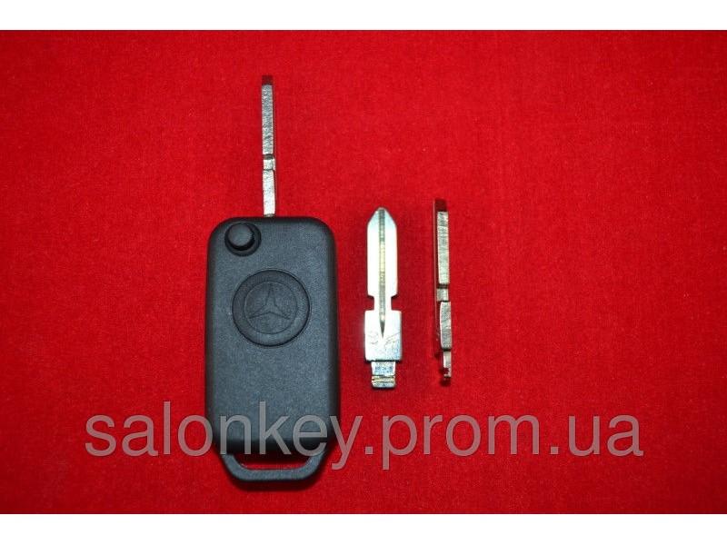 Ключ Mercedes 124, W210, выкидной корпус 1 кн. Лезвие HU39