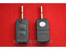 Выкидной ключ Mercedes корпус 2 кн Лезвие HU39 с логотипом